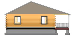 Edenton Log Cabin Plan 5