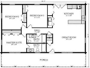 Edenton Log Cabin Plan 2
