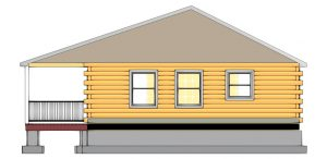 Edenton Log Cabin Plan 3