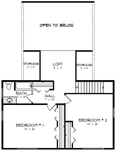 Four Oaks II Log Cabin Plan 2