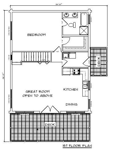Honey Pond Log Cabin Plan 2