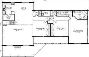 Manteo Log Cabin Plan 2