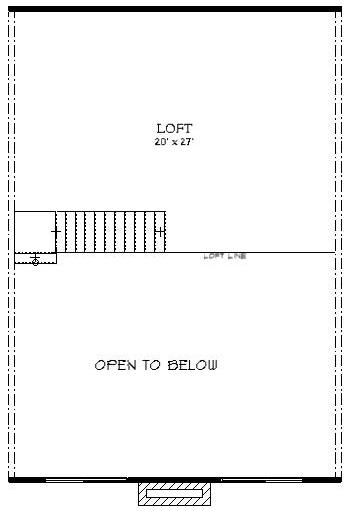Manteo Log Cabin Plan 3