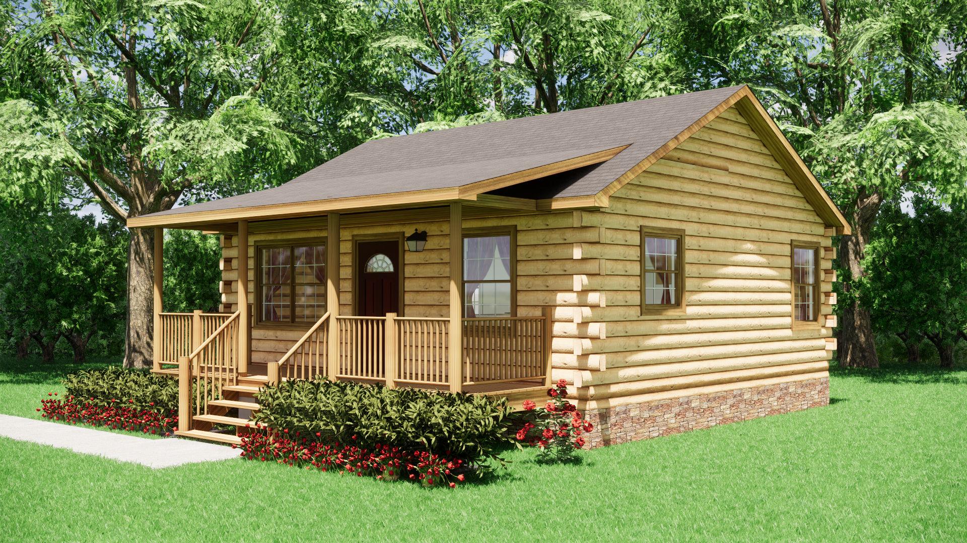 Small Log Cabins - Small Log Cabin Kits 2