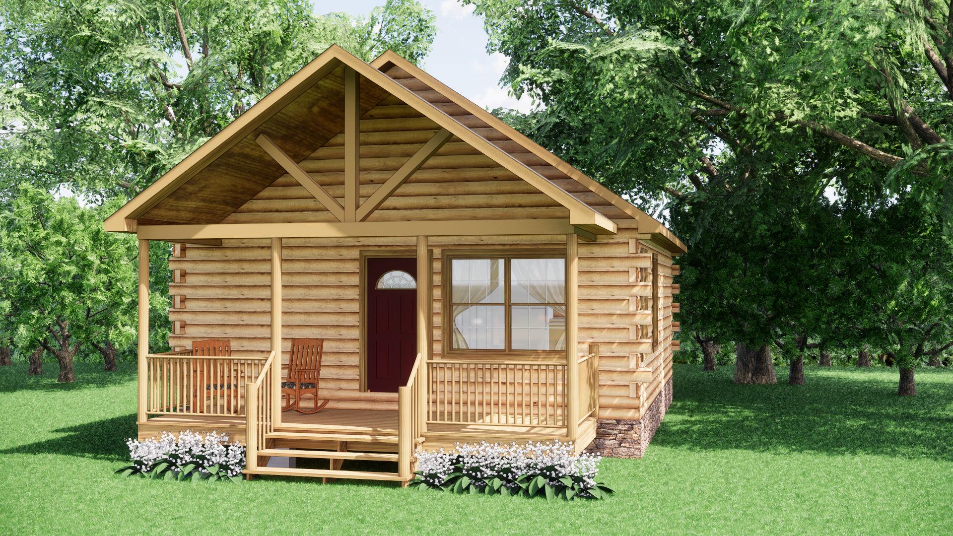Small Log Cabins - Small Log Cabin Kits 3