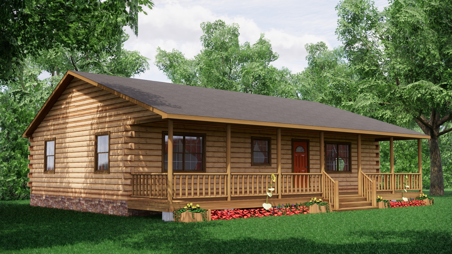 Edenton Log Cabin Plan 1
