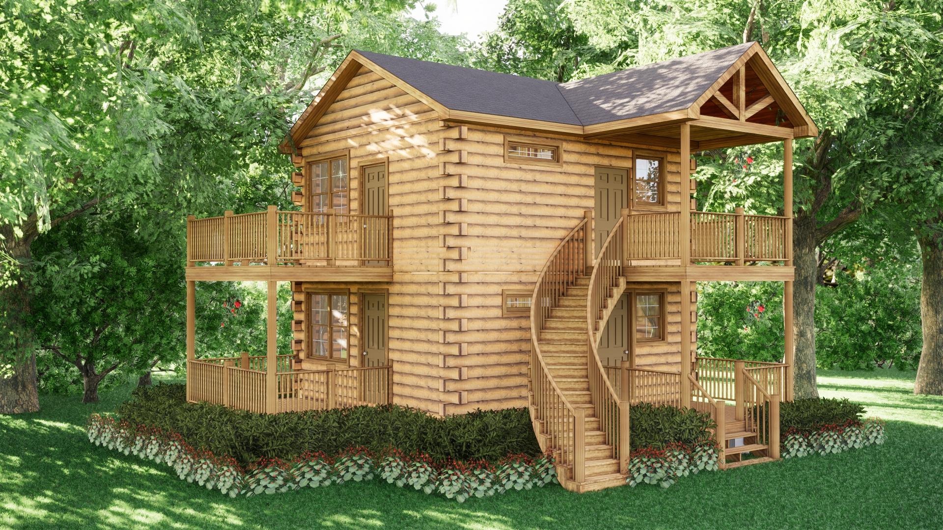 Small Log Cabins - Small Log Cabin Kits 6