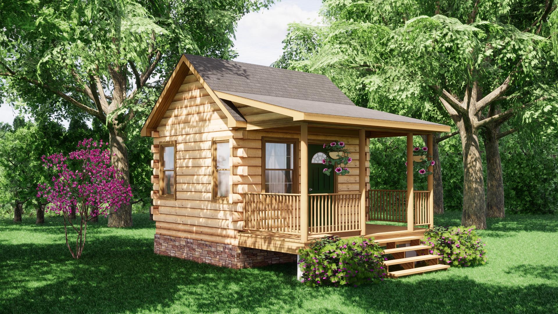 Small Log Cabins - Small Log Cabin Kits 11