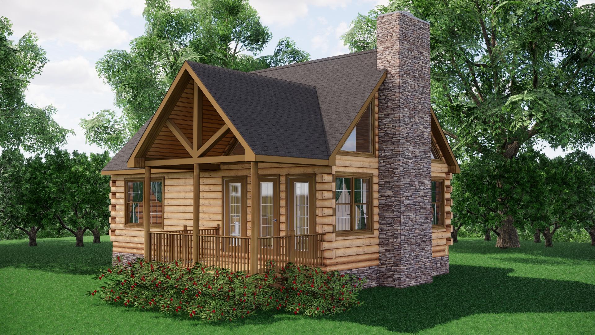Small Log Cabins - Small Log Cabin Kits 12