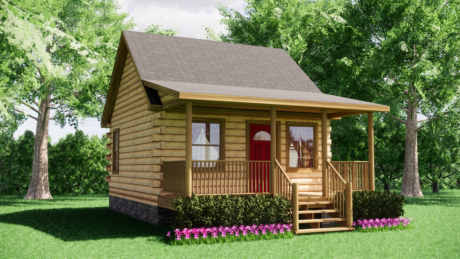 Small Log Cabins - Small Log Cabin Kits 13