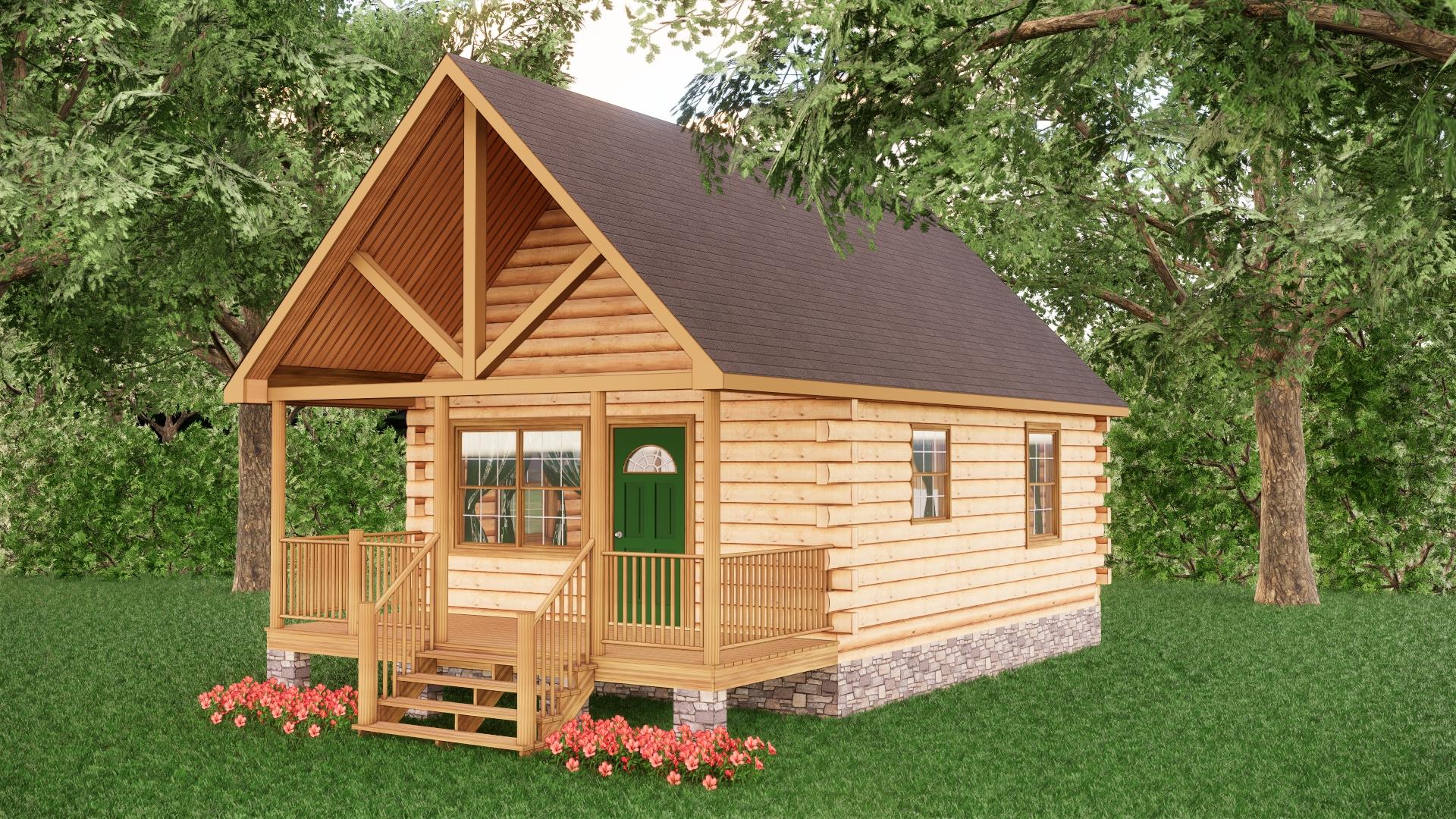 Small Log Cabins - Small Log Cabin Kits 14