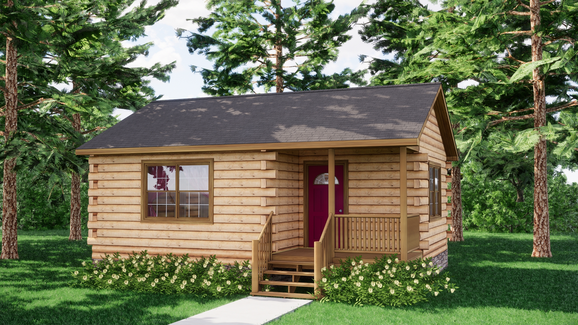 Small Log Cabins - Small Log Cabin Kits 16
